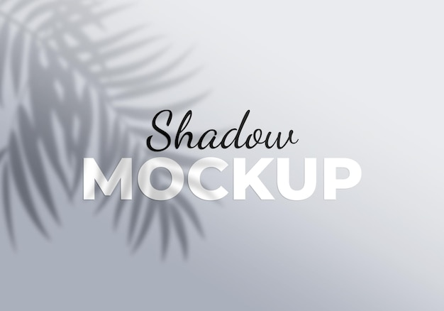 Shadow of palm leaves design element