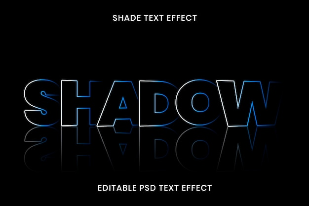 Modello modificabile psd effetto testo ombra