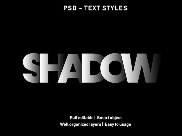 Shadow text effect style
