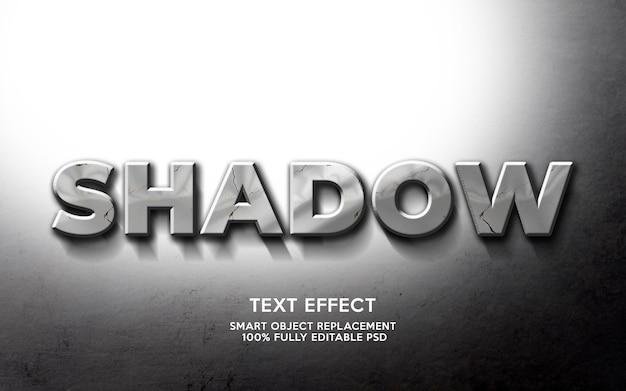 Шаблон текстового эффекта тени
