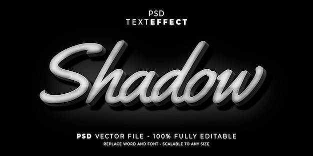 Shadow text and font effect