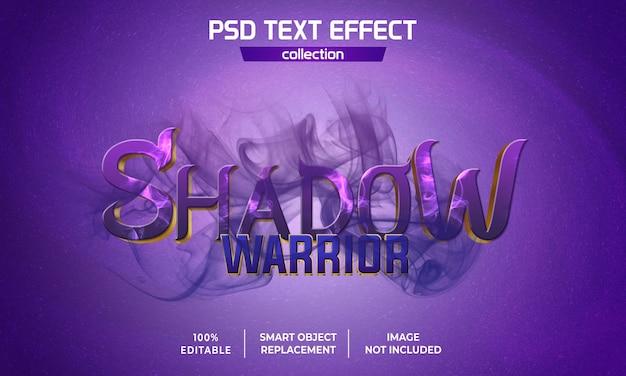 Эффект текста изображения теневого воина