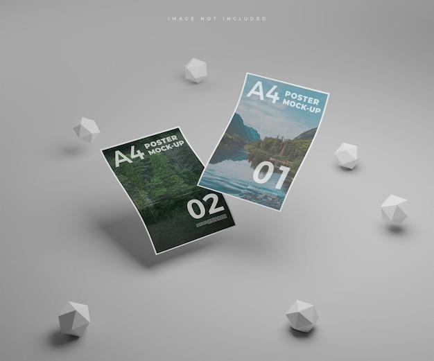 Затененный макет плаката формата а4