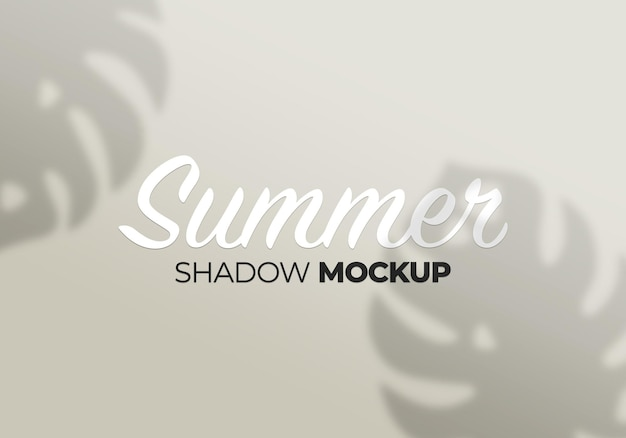 Shadows mockup monstera leaves on a white wall