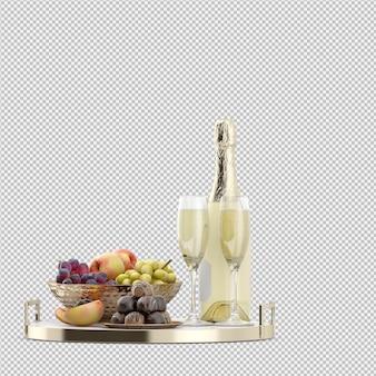 フルーツとキャンディーのシャンペン