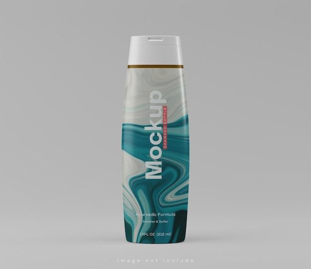 Макет упаковки бутылки шампуня