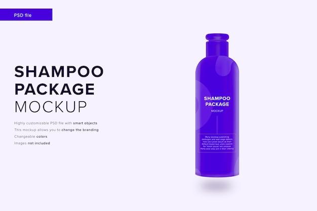 Макет упаковки шампуня в стиле современного дизайна
