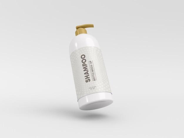 シャンプーポンプボトル包装モックアップ