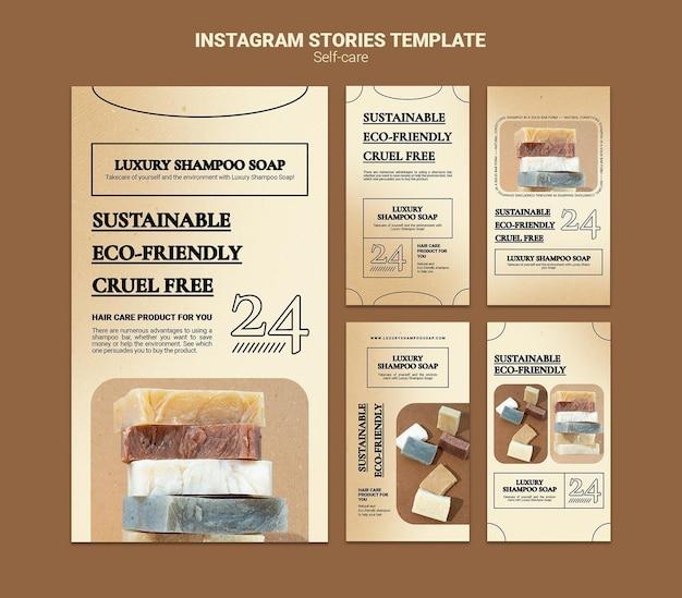 Shampoo soap social media stories