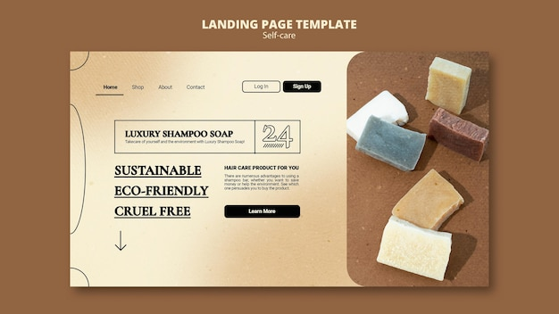 Шампунь мыло веб-шаблон
