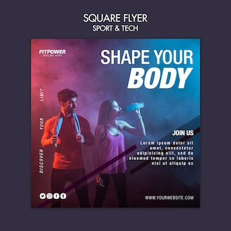 Shape your body sport template