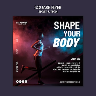 Shape your body square flyer