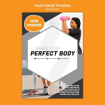 Shape your body workout poster template