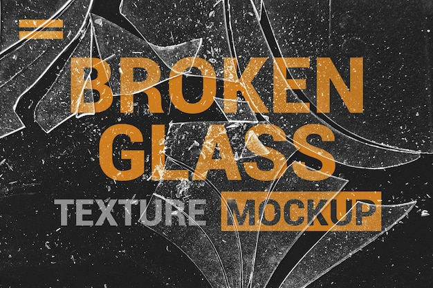 Shards of glass effects mockup