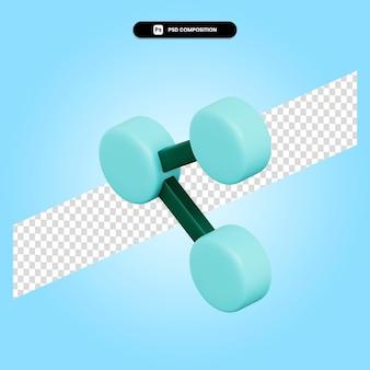 Поделиться 3d визуализации иллюстрации изолированы