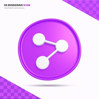 Поделиться значок 3d-рендеринга