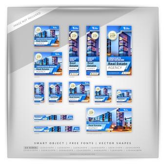 Sharp blue real estate google и facebook ads