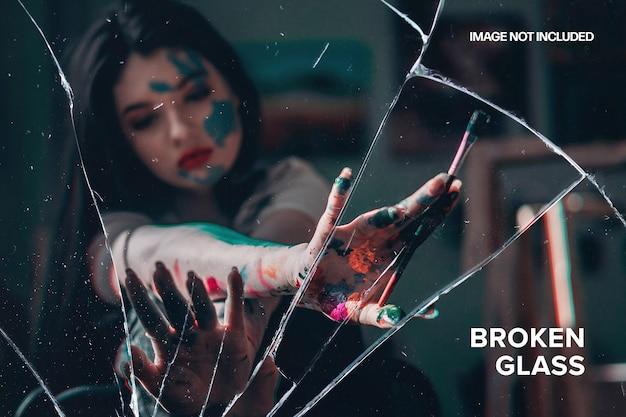 Шаблон фотоэффекта разбитого стекла