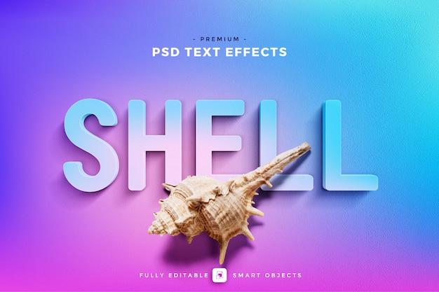 Shell text effect mockup