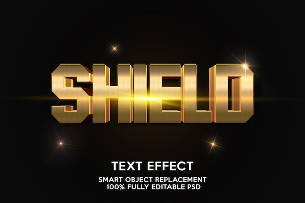 Shield text effect template