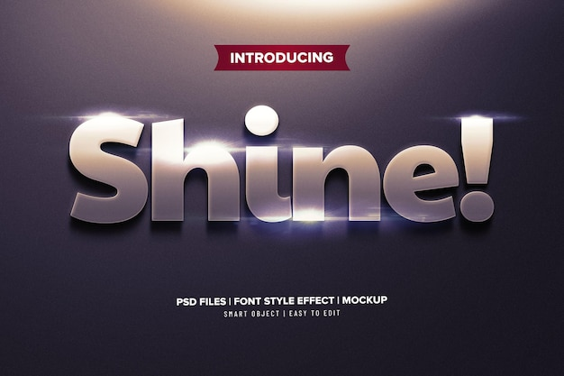 Shine metal premium text effect template