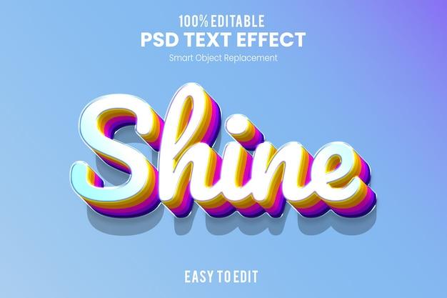 Текстовый эффект shine3d