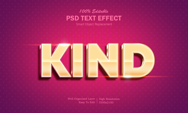 Shining gold color 3d text effect template