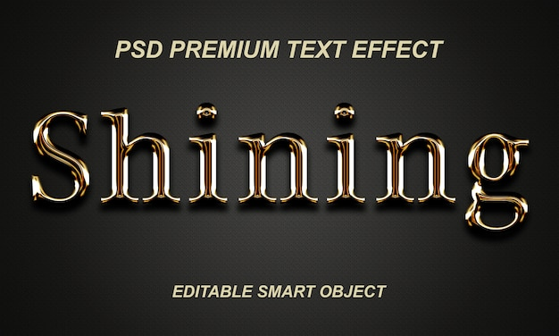 Shining text effect design