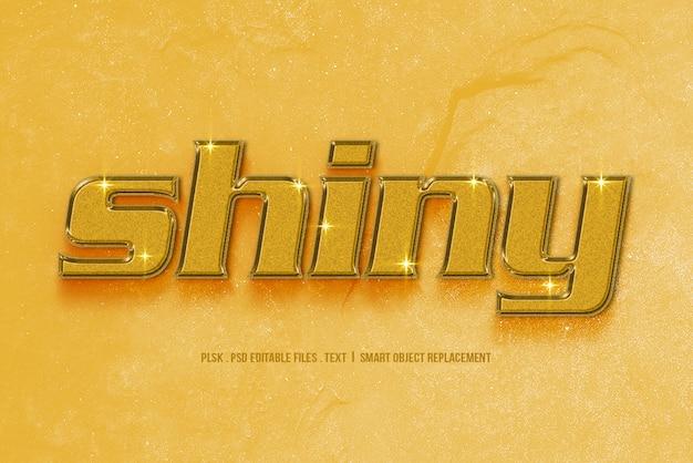 Shiny 3d text style mockup