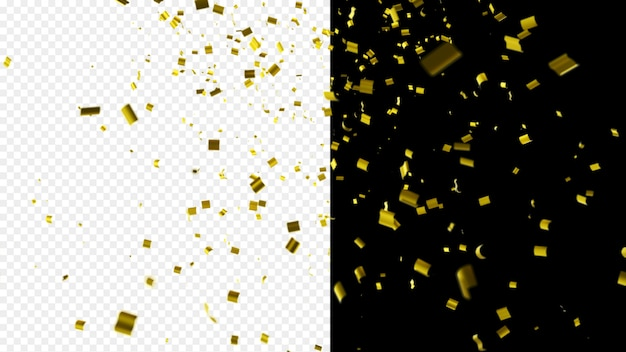 Shiny golden confetti
