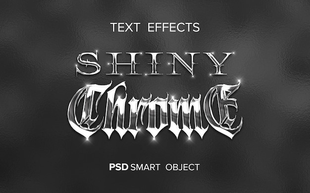 Shiny metal text effect