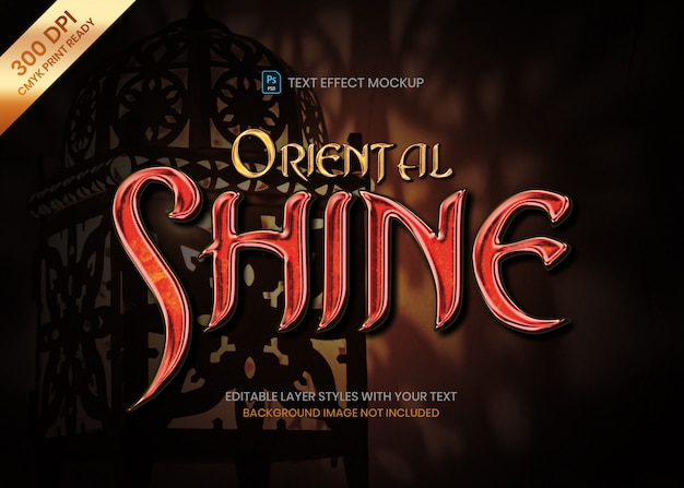Shiny oriental style gem material logo text effect psd template.