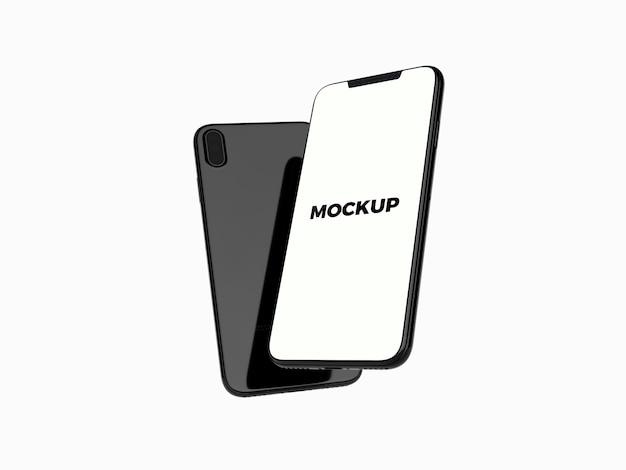 Shiny smartphone mock up