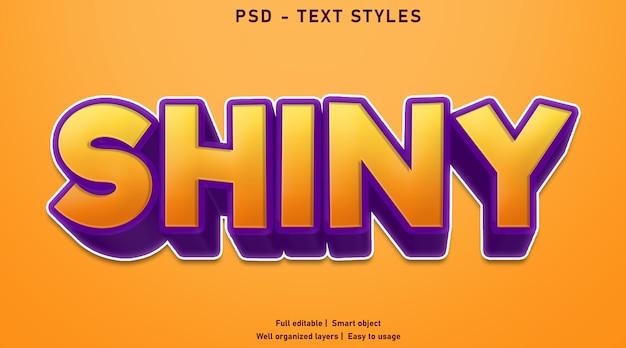 Шаблон стиля блестящих текстовых эффектов