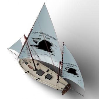 船のモックアップデザイン