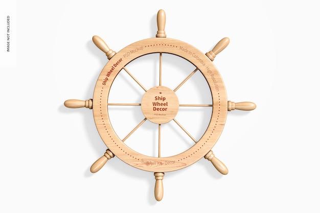 선박 바퀴 장식 모형 프리미엄 PSD 파일