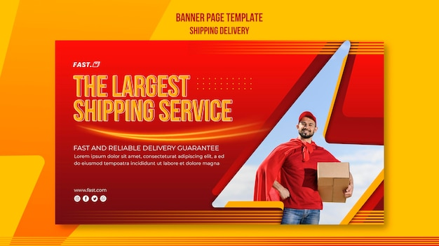 Shipping delivery horizontal banner