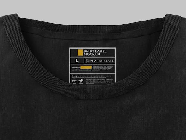 Шаблон макета этикетки на рубашке