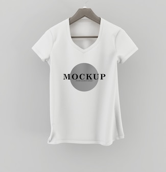 Shirt mockup. t-shirt template. white version, front design.