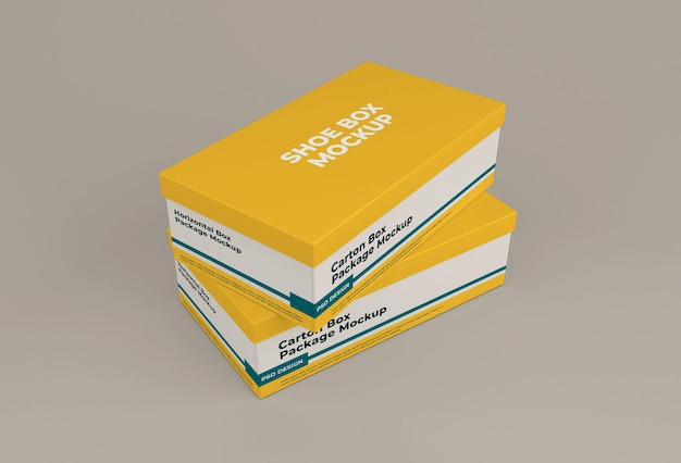Shoe box mockup isolated design