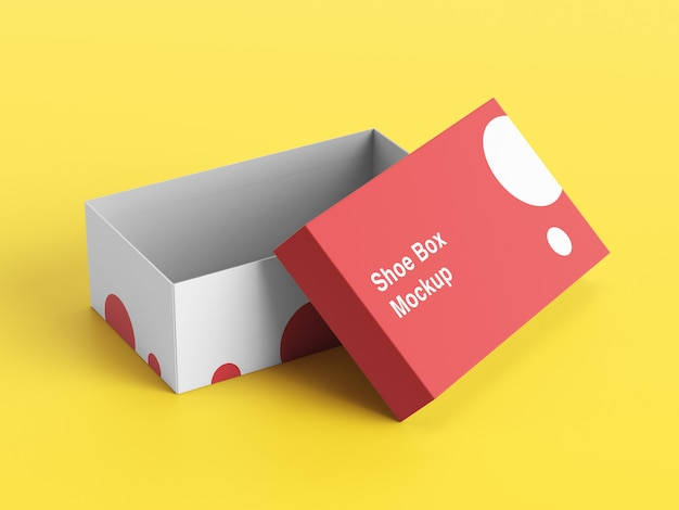 Shoe box mockup psd design