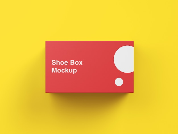 Shoe box mockup top angle view