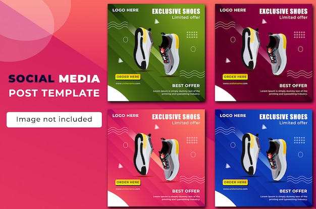Shoe social media post template