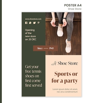 Shoe store concept poster template