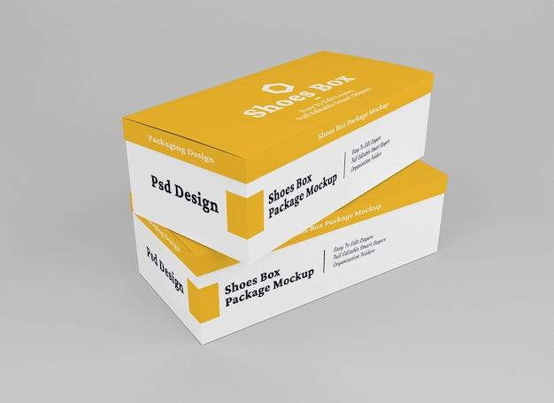 Shoes box mockup design isolated