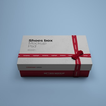 Shoes box mockup with editable background color psd