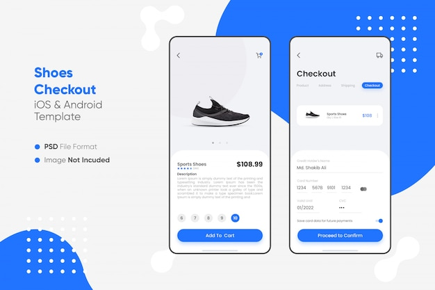 Shoes checkout app ui