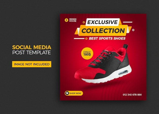 게시물 템플릿-신발 판매 소셜 미디어