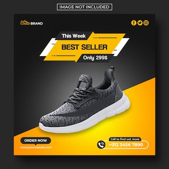Shoes sale social media post and web banner