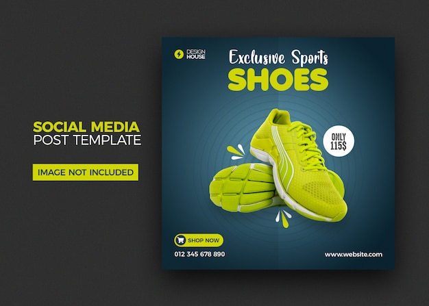Shoes social media instagram post template